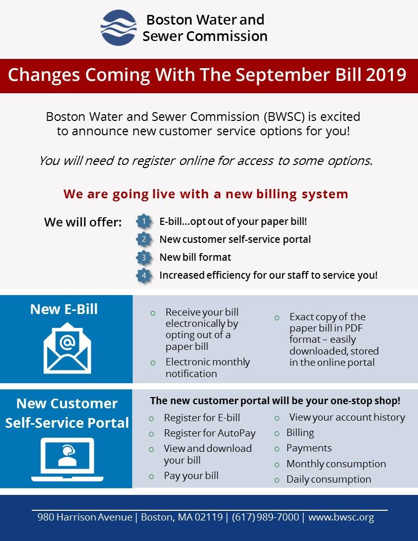 Page one of the flyer announcing our new billing system Go Live date and the new functionality that will be available.