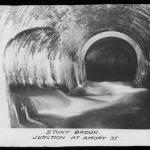 A historic picture of the Stony Brook Conduit, early 1900s